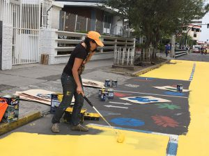 Painting the road
